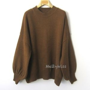 Sweaters - NWOT 95N WOMEN KNIT TOP OVERSIZED SWEATER Sz-O/S